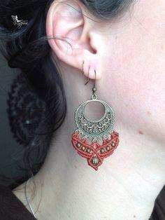 Micro macrame earrings custom order boho jewelry bohemian macrame jewelry micromacrame