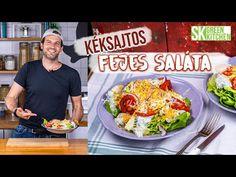 Ezúttal azt mutatom meg nektek, hogyan lehet egy fejes salátából brutál klassz főételt építeni! Hihetetlenül hangzik? Pedig higgyétek el, ez a kéksajttal, krumplival és főtt tojással turbózott saláta nagyon adja, úgyhogy teszteljétek gyorsan! A tojásokat hideg vízben feltesszük főni, forrástól számítva 1 percig főzzük, majd lefedve félretesszük 10 percre. A krumplit héjastul megfőzzük mikróban Green Kitchen, Cobb Salad, The Creator, Mexican, Make It Yourself, Ethnic Recipes, Food, Beverages, Street