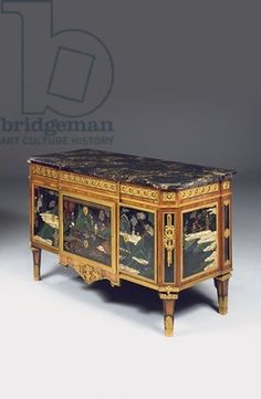 Louis XVI breakfront commode a vantaux, the lacquer late 17th - early 18th century (ormolu, tulipwood and Chinese coromandel)