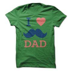 I Love Dad T Shirts, Hoodies. Check price ==► https://www.sunfrog.com/Valentines/I-Love-Dad.html?41382
