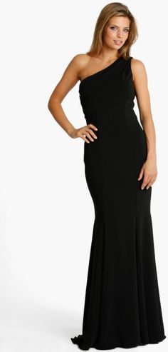 Js Collections One Shoulder Jersey Gown @Lyst