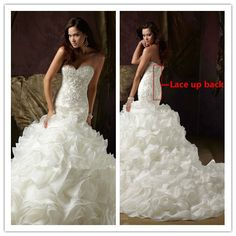 Mermaid wedding dress 2015 Hot sale Sweatheart off the shoulder floor length court train Organza bridal dress Vestidos De Noiva