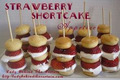 Strawberry Shortcake Appetizers! Great for Spring/Summer get togethers!