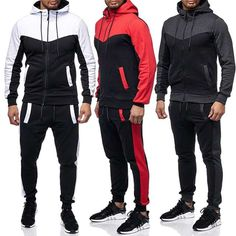 Source New jogging Custom Track Suits Tracksuit For Men /Mens Polyester Sportswear Track Suit By Lazib Sports on m.alibaba.com Casual Suit, Men Casual, Sport Casual, Track Suit Men, Sports Hoodies, Man Set, Hoodie Jacket, Mens Suits, Male Fitness