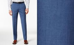 Bar III Men's Dusty Blue Solid Slim-Fit Suit Separates, Created for Macy's - Suits & Suit Separates - Men - Macy's