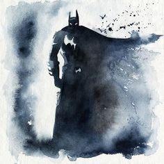 Batman Watercolor Art Print