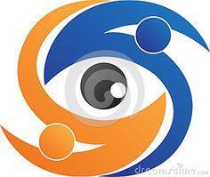 People eye logo by Colorscurves, via Dreamstime Clinic Logo, Eye Logo, People Logo, Photo Logo, Abstract Wall Art, Royalty Free Photos, Logo Design, Shades, Eyes