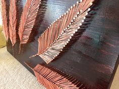 Cadena arte de pluma por Stringything en Etsy