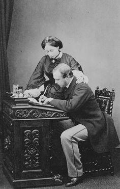 Prince and Princess Louis of Hesse, (Princess Alice), 1862. [Album: Photographs. Royal Portraits, vol.49]   Royal Collection Trust