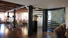 sonne by raumforum Restaurant Design, Conference Room, Divider, Table, Furniture, Home Decor, Architecture, Decoration Home, Room Decor