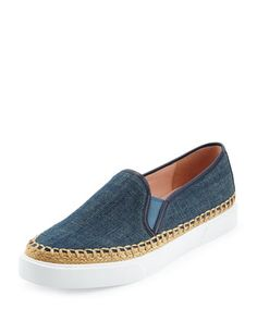 cory+denim+slip-on+sneaker,+blue+by+kate+spade+new+york+at+Neiman+Marcus.