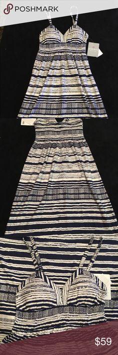 Athleta printed Bahia dress Brand new!! Lined print spaghetti strap dress Athleta Dresses