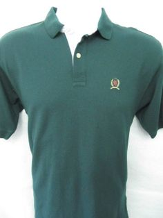 Tommy Hilfiger Polo XL Green Boy's Shirt Short Sleeves Crest Logo Sport EUC Mint #Fashion #Style #Deal $14.99