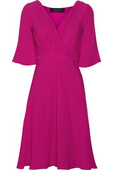 Love the colour! Gucci Silk-cloqué dress | NET-A-PORTER