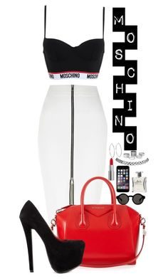 """""""MISCHINO !"""" by goldenhippy ❤ liked on Polyvore featuring moda, Moschino, River Island, Givenchy, Monki, Laila, Wet Seal, Lauren Ralph Lauren y Shoe Republic LA"""