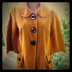 Beautiful Fall Jacket! Beautiful mustard yellow/gold coat!  Lightweight with lining and perfect for those upcoming FALL days and nights! Recently dry cleaned and ready for your closet! No rips, tears or stains from my smoke free home! Jolt Jackets & Coats