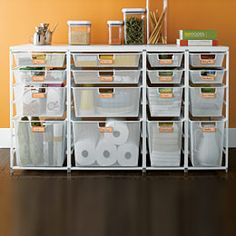 love this system for organizing cleaning supplies
