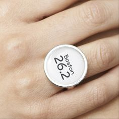 Customizable Marathon Ring makes a great gift for any marathon runner. Ready to personalize with city and distance.
