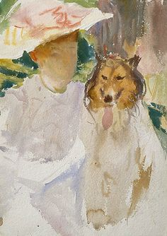 John Singer Sargent Woman with Collie 1908