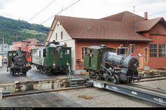 High quality photograph of SBB Historic CZm H # 17 at Arth Goldau, Switzerland. Swiss Railways, Train Pictures, Switzerland, Layouts, Transportation, Around The Worlds, Cabin, House Styles, Trains