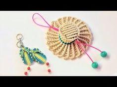 How to make a macrame hat-Easy macrame tutorial key chain - Hướng dẫn thắt móc khóa mũ rơm Luffy - Смотреть видео бесплатно онлайн Macrame Bracelet Tutorial, Macrame Necklace, Macrame Jewelry, Macrame Bracelets, Loom Bracelets, Macrame Toran Designs, Macrame Design, Magic Knot, Micro Macramé