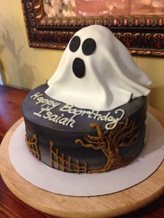 Ghost birthday cake