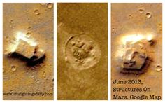 "Three Structures Discovered On Google Mars Map Near ""Amazonis Planitia"" June 18, 2013.  Location of discovery: Left of Amazonis Planitia, Mars Method used: Google Mars Map. #1 Building at: 19°56'0.88""N - 161°59'47.50""W #2 building at: 20° 9'34.34""N - 163°15'26.97""W #3 building at: 24°16'4.37""N - 165°27'51.43""W  #mars #aliens #building #structures #ufo #curiosity"