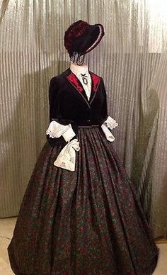 Civil War Dickens Fair Christmas Caroler Costume Victorian King Flum Sz 12