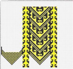 одноклассники Knit Mittens, Mitten Gloves, Slipper Socks, Slippers, Tapestry Crochet, Knitting Charts, Loom, Embroidery, Pattern
