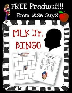 FREE! Dr. Martin Luther King, Jr. Game Board and bingo cards. Here is a fun way for your students to learn more about Dr. Martin Luther King, Jr!