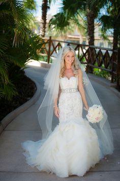 Wedding dress - Photography: Amy Bennett Photography - amybennettphoto.com/  Read More: http://www.stylemepretty.com/destination-weddings/2014/02/20/cabo-san-lucas-wedding/
