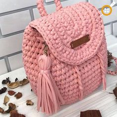 """New Cheap Bags. The location where building and construction meets style, beaded crochet is the act of using beads to decorate crocheted products. """"Crochet"""" is derived fro Crochet Handbags, Crochet Purses, Diy Crochet, Crochet Baby, Blanket Crochet, Crochet Backpack, Knitted Bags, Crochet Accessories, Handmade Bags"""