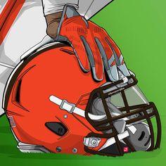 Nfl Football Helmets, Football Art, Football Posters, Giants Football, American Football League, National Football League, List Of Nfl Teams, Cleveland Browns Wallpaper, Cleveland Browns Football