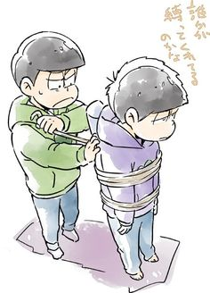 おそ松さん Osomatsu-san 一松を縛るチョロ松