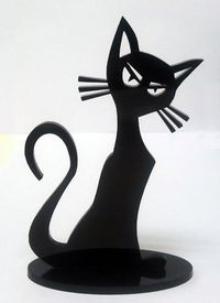 Laser cut acrylic cat sculpture by vkuzminsky on Etsy