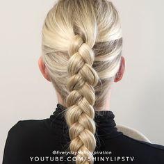 French Braid Hairstyles, Braided Hairstyles Tutorials, Easy Hairstyles, Dutch Braid Tutorials, Hair Braiding Tutorial, Hair Tutorial Videos, Braiding Your Own Hair, Braids For Short Hair, How To Braid Hair