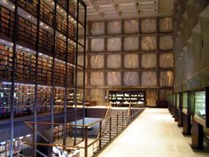 Yale Beinecke Library - interior stacks view