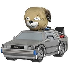 Funko Dorbz Ridez: Back to the Future - Delorean Action Figure with Einstein ** Check this awesome product by going to the link at the image. (This is an affiliate link) #ActionToyFigures