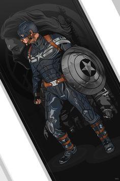 Captain America: The Winter Soldier -- Marvel Poster Series by Vincent Rhafael Aseo Marvel Captain America, Ms Marvel, Marvel Comics, Mundo Marvel, Marvel Heroes, Marvel Characters, Marvel Avengers, Steve Rogers, Poster Marvel