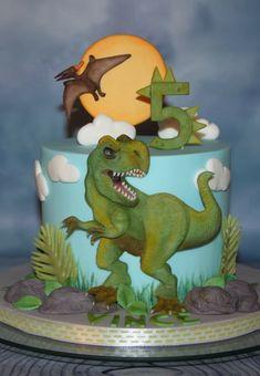 Dino Cake, Children Cake, Dinosaur Stuffed Animal, Happy Birthday, Toys, Animals, Cakes, Happy Brithday, Activity Toys