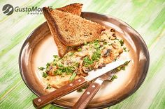 This mushroom and cheese omelette is stuffed with mushrooms, and then some, plus melted Fontina cheese over the top. Fresh parsley and spring garlic. Spring Garlic, Cheese Omelette, Fontina Cheese, Bacon, Stuffed Mushrooms, Fresh, Cooking, Ethnic Recipes, Parsley