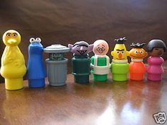 Fisher Price Seasame Street!  I'd beat someone and take their lunch money for this complete set. Lol I know I'm terrible!