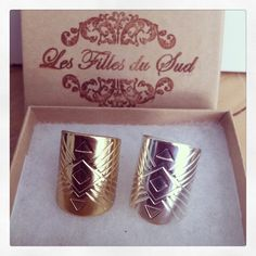 Bague aztec, ring aztec gold plated or silver plated summer 2014 www.lesfillesdusudbijoux.com