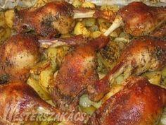 Egyszerű kacsasült egytál recept Hungarian Recipes, Tandoori Chicken, Chicken Recipes, Turkey, Favorite Recipes, Dishes, Ethnic Recipes, Food, Diet