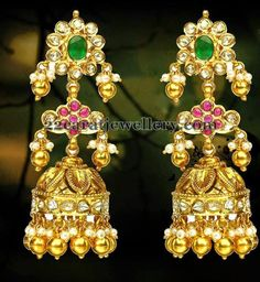 Jewellery Designs: Pachi jhumka Sets by Hiya Jewellers