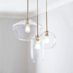 West Elm - Sculptural Glass Chandelier Mixed - entry way (clear or smokey? Mobile Chandelier, 3 Light Chandelier, Pendant Lighting, Industrial Lighting, Sputnik Chandelier, Lighting Sale, Modern Lighting, Chandeliers, Diy Canopy