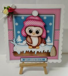 Gallery - A beautiful image I printed the image on matte photo paper and cut out the elements and mounted with foam . Baby's First Christmas Card, Babies First Christmas, Xmas, Christmas Animals, Beautiful Images, Handmade Cards, Embellishments, Decoupage, Tape
