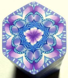EXTRA LARGE Shades of Blue and Purple Hexagon door ClaybyKerm