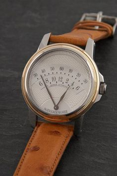 Nienaber Bünde Retro 2 retrograde watch - Watch - Ideas of Watch - retrograde wrist watch Cool Watches, Watches For Men, Men's Watches, Hublot Watches, Unique Watches, Swatch, Bracelet Cuir, Omega Seamaster, Beautiful Watches