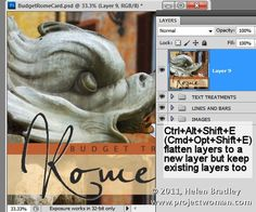 10 great photoshop shortcuts  http://digital-photography-school.com/10-best-photoshop-shortcuts